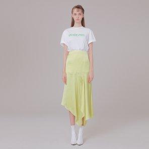 Silk detail skirt 001 Lemon