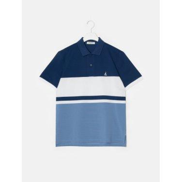 19SS  블루 컬러 블록 칼라 티셔츠(BC9342A14P)