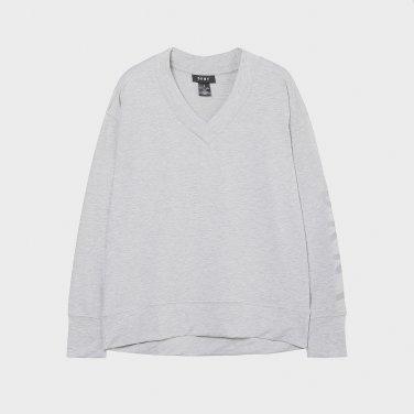 소매 로고 V넥 티셔츠(DW1J1TTS123W)