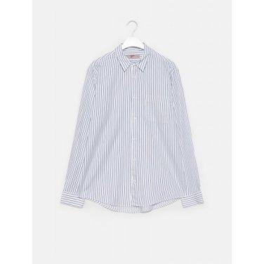 남성 화이트 스트라이프 오버사이즈 셔츠 (429864AYB1)