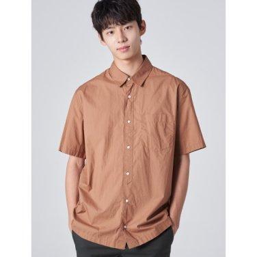 남성 새먼 솔리드 베이직 포켓 반소매 셔츠 (429765EY19)