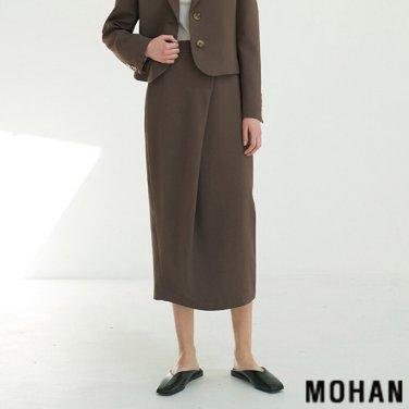[모한] MOHAN TTS CURVED WRAP SKIRT _ 2 COLOR (MHTTSSK005)