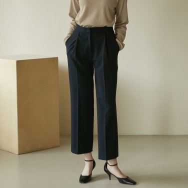 19W TUCK PANTS (NAVY)