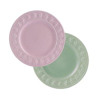 페스티비티 27cm 접시 2p (그린/핑크)