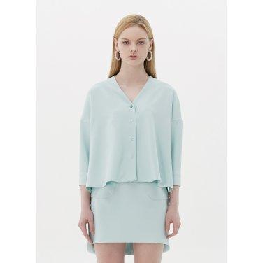 v neck blouse mint SH08