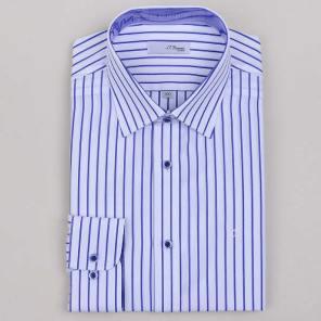 스트라이프 슬림 셔츠 (SE0SM21LS326SNY)