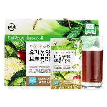 [엔플러스] 유기농 양배추 브로컬리즙(90ml x 30포)