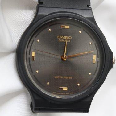 남성 카시오 우레탄 밴드 도트 아날로그 손목시계 블랙_A0135