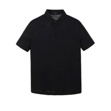 블랙 솔리드 카라 반팔티셔츠  JNTS9B307BK