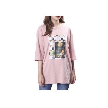 모티브프린트 티셔츠 PK3CL801-EL