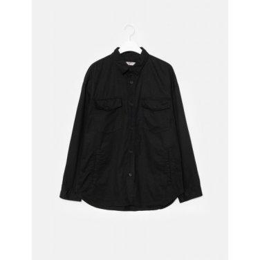 남성 블랙 투 포켓 셔츠형 재킷 (269839DY15)