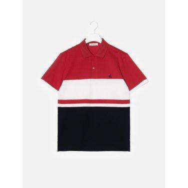 19SS  레드 컬러 블록 칼라 티셔츠(BC9342A146)