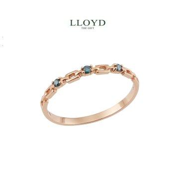 심플 블루다이아몬드 반지(LRF18009D)