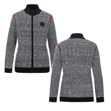 여성 벌키 풀집업 스웨터 (JKTBW18632BLK)