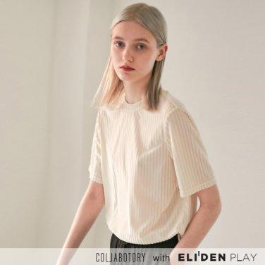 스트라이프 벨벳 반팔 티셔츠 (2color) (BCAMB2022M)