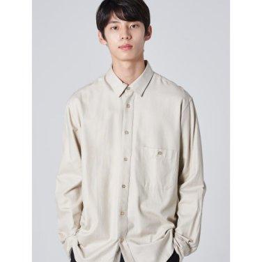 남성 아이보리 베이직 포인트 포켓 셔츠 (219864AY00)