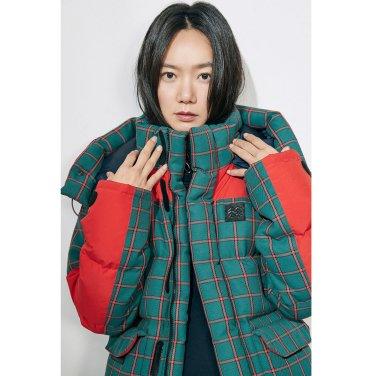 [쇼핑백증정]여성 헤스티아 LIMONTA 체크 다운자켓(JKJDW18222GRE)