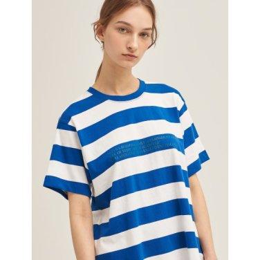 [Online Exclusive] 블루 볼드 스트라이프 레터링 티셔츠 (BF9342N05P) (BF9342N05P)