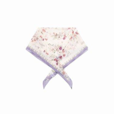 [여성]플라워 패턴 마름모 스카프(T192MSF135W)
