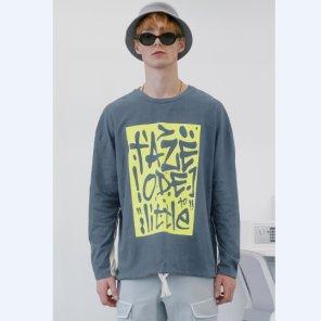 [테이즈]Graffiti Two-tone T-shirt (19TAZE43E)