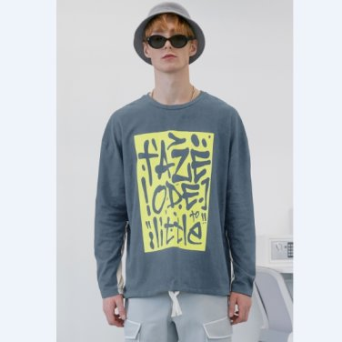 [테이즈]Graffiti Two-tone T-shirt (19TAZE43E)