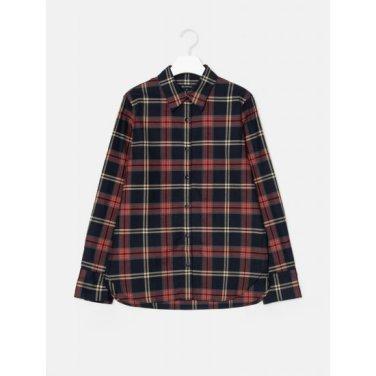 [GREEN BEANPOLE] 레드 체크 브러시드 A라인 셔츠 (BF9964N016)