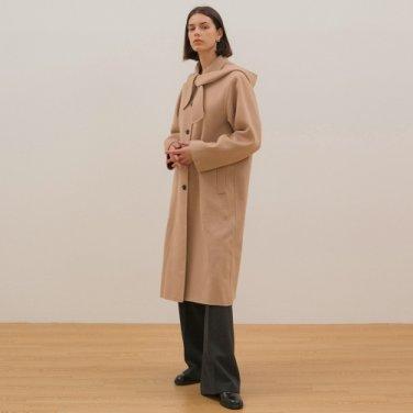 Handmade Hood Coat - Beige