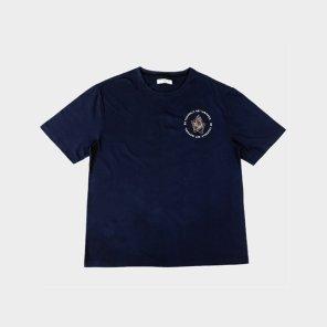 부다 프린트 반팔 티셔츠 - NAVY