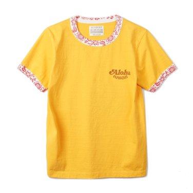 SUN SURF Ringer T-Shirts King Kamehameha Yellow