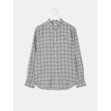 19SS  [30주년 CHECK] [SLIM] 그레이 콜라보 체크 리넨 셔츠(BC9364A423)