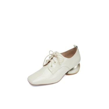 DG1BX19529IVY …Color block loafer pumps(ivory)