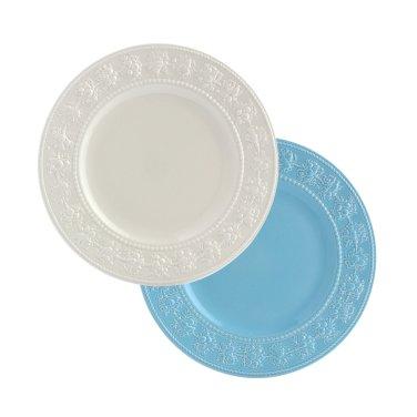 페스티비티 27cm 접시 2p (아이보리/블루)