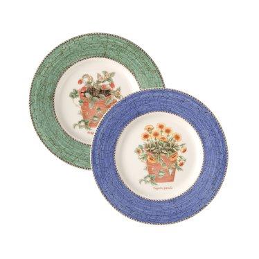 사라스가든 20cm 접시 2p (블루/그린)
