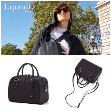 볼링백 P6669004 블랙 PLUME AVENUE 여성 쁘띠 도트백 크로스백 포인트 가방
