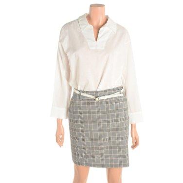 여성 V넥 카라 셔츠(TUBAE7419)