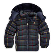 폴로 키즈 여아 2-4세 타탄 퀼트 다운 재킷(CWPOOTWO6020004400)