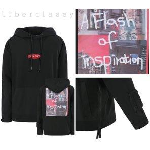 리버클래시(DJ) 블랙 프리미엄 면 소재 오버핏 후드 티셔츠 LFW41344