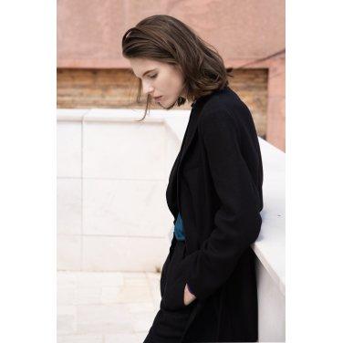 [아바몰리][염정아 착용] 1033 Molli Belted Double Jacket_BLACK