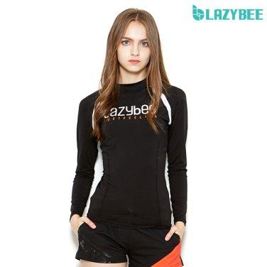 [LAZYBEE] 슬림핏 2102 여성 래쉬가드 - 블랙