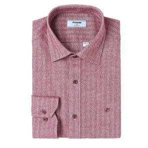헤링본 솔리드 기모 슬림핏 셔츠 RIWSL0151RDIL