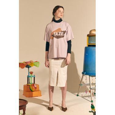 [테이즈] New Pile Cotton Skirt_Ivory