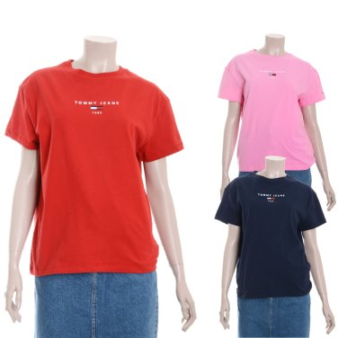 여성 코튼 레귤러핏 로고 티셔츠 TUMT1KOE26D0