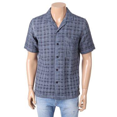 S/S 가먼트다잉 와이드카라 리넨혼방 반소매셔츠65SS212