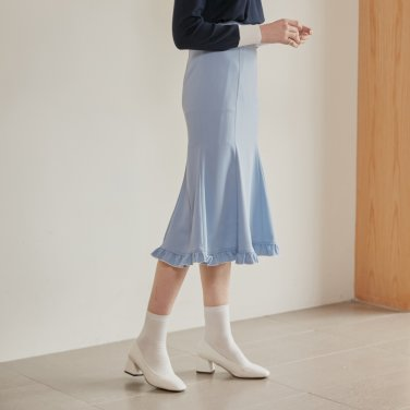 FRILL MERMAID SKIRT_SKY BLUE