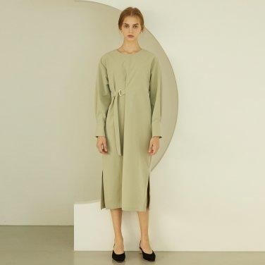 P Belted Long Dress_OL
