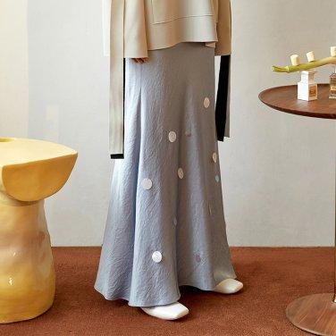Benjamin Round Spangle Skirt_Blue (JC19FWSK07BL)