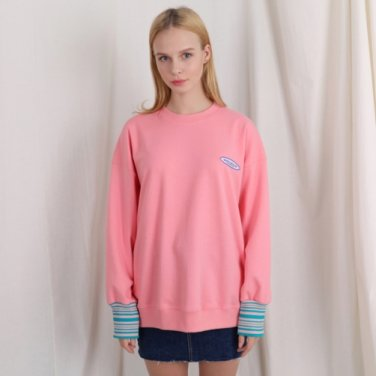 TSW 스몰 로고 스웨트셔츠 핑크