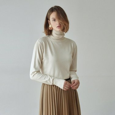 [DEANS] CLASSIC TURTLE SWEATER_IVORY