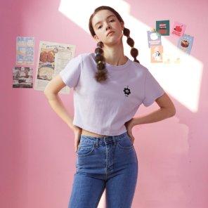 [LALA] 빈티지 크롭 티셔츠 (AL1CT398)