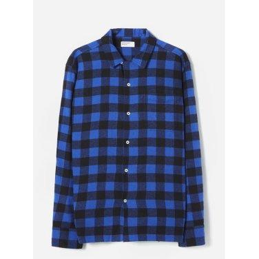 브리쉬드 깅엄 가라지 셔츠 블루 / Garage Shirt in Blue Brushed Gingham / REF 21192